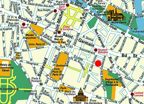 Barrio Latino Paris Mapa.Mapa Y Acceso Hotel Sully Saint Germain Paris Cerca Del